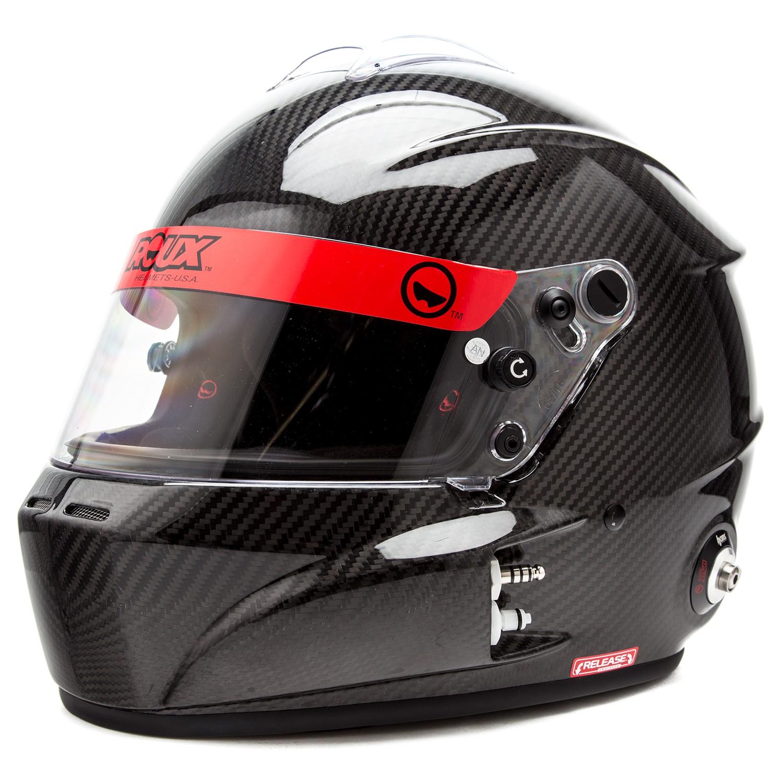 Left Front Diagonal View, Roux - R-1 Carbon Helmet, Glossy Carbon, Pn RXHR1C-15G85