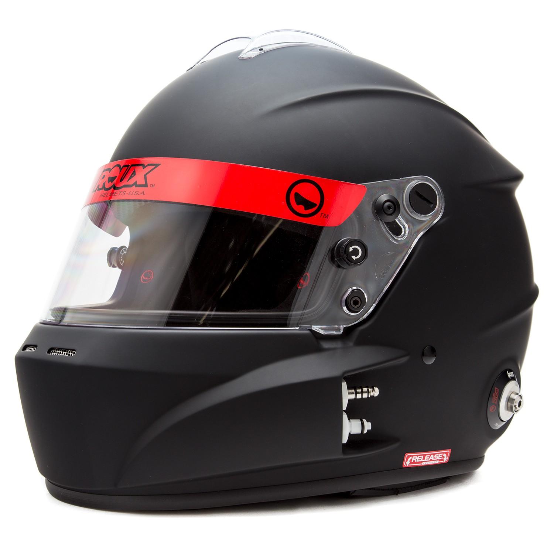 Left Front Diagonal View, Roux - R-1 Helmet, Fiberglass, Flat Black, Pn RXHR1F-15F55