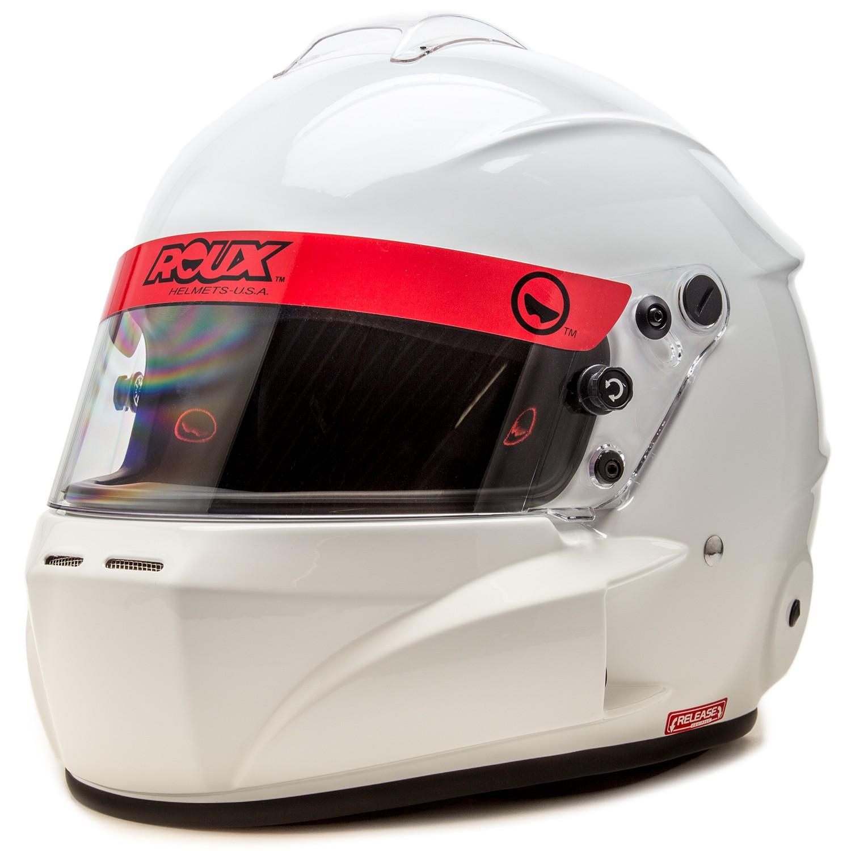 Roux R-1 Fiberglass Base Model Glossy White Helmet
