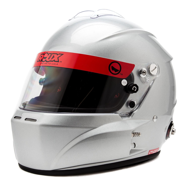 Front Left Diagonal View, Roux - R-1 Composite Helmet, Silver, Pn: RXHR1FK-15G45