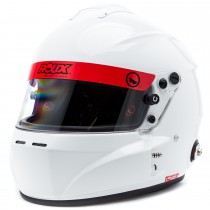 Roux R-1 Fiberglass Loaded Model Glossy White Helmet