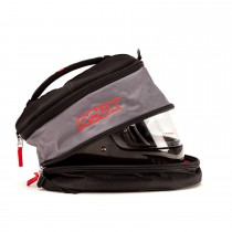 Side Open View, Roux - Hans Helmet Bag, Part Number: RXB02-15542